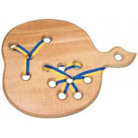 Игрушка из дерева Шнуровка Яблочко 171974 ТМ Дерево