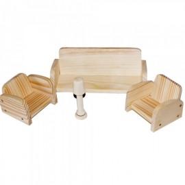 """Деревянный Мини набор мебели деревянный  """"Гостинная""""172043 ТМ Дерево"""