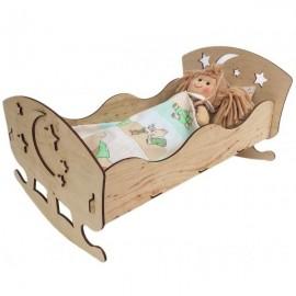 Кроватка для кукол из фанеры172311 ТМ Дерево
