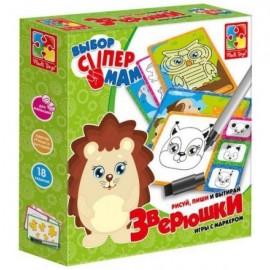 """Простые игры с маркером """"Животные"""" VT1802-11 Vladi Toys"""