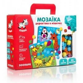 Мозаика деревянная Зоопарк ZB2002-02 Влади Тойс в коробке