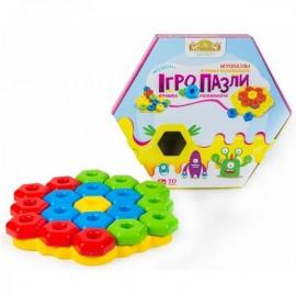 Мозаика развивающая игрушка Игро-Пазлы 20 элементов Тигрес