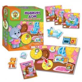Игра с подвижными деталями Мышкин дом Vladi toys VT2109-09