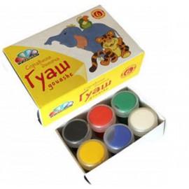 """Краски гуашь 6 цветов серия """"Любимые игрушки""""221031 Гамма"""