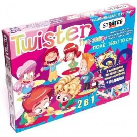 Твистер 2в1напольная игра  256 Strateg