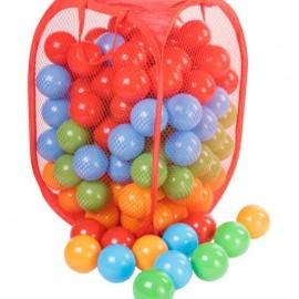 Шарики для сухого бассейна матовые 140 штук в сумке на змейке 467 в.7 Орион