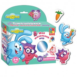 Мягкие магниты Мой маленький мир Смешарики в коробке VT3103-02 Vladi Toys