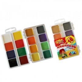 Краски акварельные медовые без кисточки 16 цветов 312062 Гамма