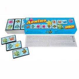 Домино для детей Зоопарк, ферма, Океан, Авто или Фрукты 3299-3305-3312-3336 Технок