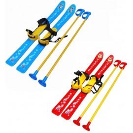 Лыжи детские с безопасными палками 3350 Технок