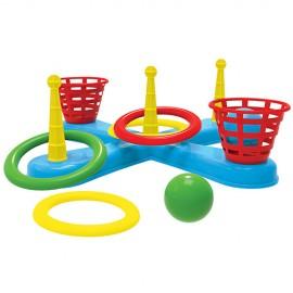 Кольцеброс детский с кольцами и шариками