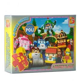 Пазлы для детей от 3-х лет с Робокаром Поли 35 элементов G-Toys, Бровары