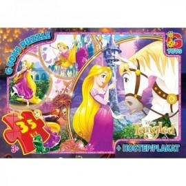 Пазлы для детей от 3-х лет из серии Рапунцель 35 элементов G-Toys