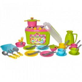 Посудка детская игровая Кухня-чемоданчик № 9 Нежность 3596 Технок