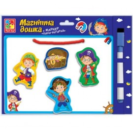 Магнитная доска с маркером + магниты Пираты VT3601-10 Vladi Toys