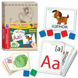 Дидактический материал для обучения с магнитами Буквы и звуки VT3701-04 VladiToys