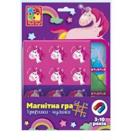 Магнитная игра Единороги Крестики-нолики VT3703-08