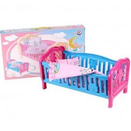 Кроватка для куклы + постельное белье 4494 Технок