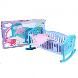 Кроватка для куклы + постельное белье Люлька 4494 Технок в коробке