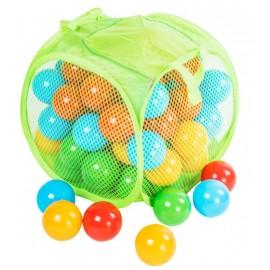 Шарики для сухого бассейна матовые 80 штук в сумке на змейке 467 в.5 Орион