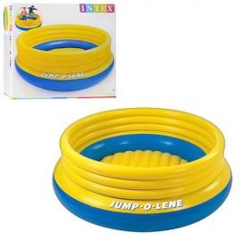 Батут желто-голубой надувной Intex 48267