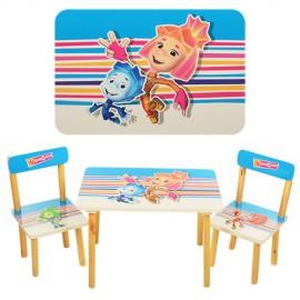Детский стол и стул от 1 года Мультики 501 Виваст, Харьков