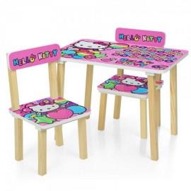 Детский стол и 2 стула Hello Kitti  501-49