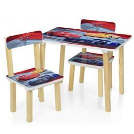 Детский стол и 2 стула Тачки. Маквин 501-52