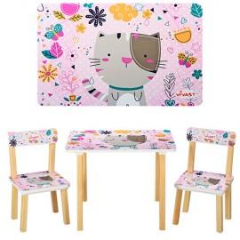 Детский стол и стульчики от 1 года розовые для девочки 501 Виваст, Харьков