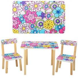 Детский стол и стулья - 2 штуки от 1 года Абстракция 501-1 Виваст, Харьков
