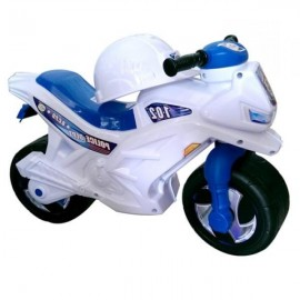 Байк Толокар (каталка) мотоцикл со шлемом бело-голубой Орион 501в. 2
