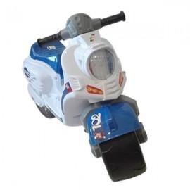 Беговел Мотоцикл детский Скутер толокар бело-синий 502 Орион