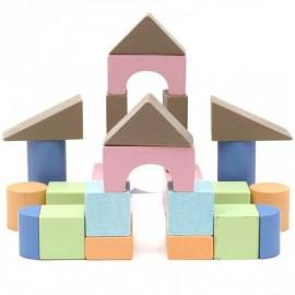 Городок деревянный разноцветный №1 24 элемента ВП 024/1 Винни Пух