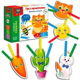 Игра с прищепками Кумедна компанія VT5303-14 Vladi Toys