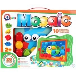 Мозаика 26 фишек-кнопок + 10 специальных трафаретов 6269 ТехноК