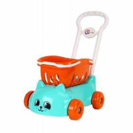 Тележка детская пластиковая голубая Котик 6924 Технок
