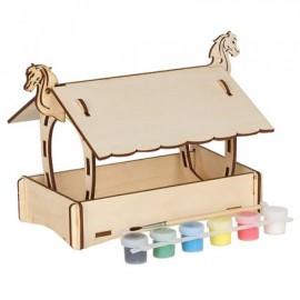 Набор для творчества сборная деревянная модель с красками Кормушка 70001/1 Вудмастер