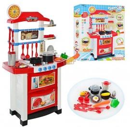 Кухня игровая детская  бело-красная 889-3