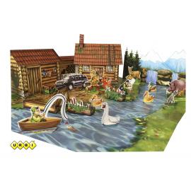 Набор для творчества 3D Усадьба охотника и рыболова URBI