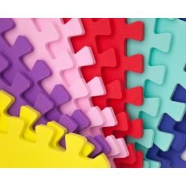 Коврик пазл мягкий пол 10 пазлов Веселка разноцветный 30*30*1 Eva-Line