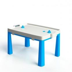 Стол пластиковый с насадкой для аэрохоккея синий 04580/1Doloni