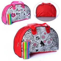Раскраска-сумка с набором фломастеров MK 0644-1