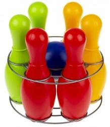 Боулинг большой  из 6 кеглей и шара Радуга 0725 Colorplast