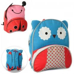 Детский рюкзак с ушками Сова или божья коровка MK 0735