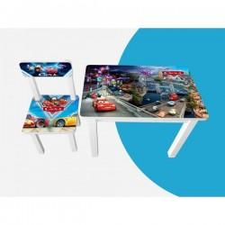 Детский стол и стул для творчества Тачки город BSM2-M05/06