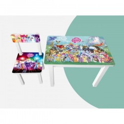 Детский стол и стул для творчества Little Pony Colors 2 вида BSM2K-M02/03
