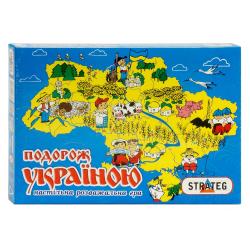 """Игра настольная """"Подорож Україною"""" 59 Стратег"""