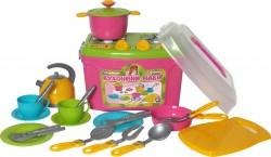 Посудка детская игровая Кухня-чемоданчик № 8 Нежность 2407 Технок