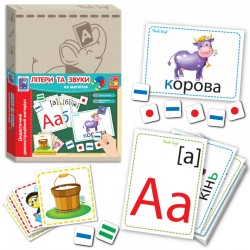 Дидактический материал для обучения с магнитами Абетка VT3701 VladiToys