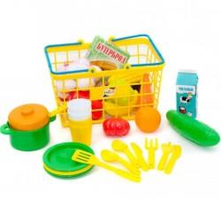 """Корзина """"Пикник"""" малая с продуктами и овощами 379 в 4 Орион"""